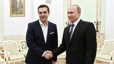 April 8, 2015. President Vladimir Putin, right, and Prime Minister of Greece Alexis Tsipras at a meeting at the Kremlin. (RIA Novosti/Aleksey Nikolskyi)