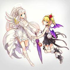 Angelic Lailah & Demonic Edna