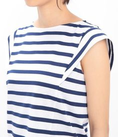Stripey top with lovely sleeve detail - Fashion Ideas - Luxury Style Look Urban Chic, Cool Outfits, Casual Outfits, Fashion Details, Fashion Design, Diy Dress, Mode Inspiration, Trendy Dresses, Sewing Clothes
