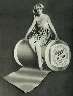 From a Beldings Ribbons ad, 1921. #vintage #ribbon #sewing_notions #1920s