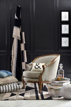 Love Black & White Decor? You'll Dig Pottery Barn's Newest Collab #refinery29