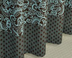 Http://img0106.popscreencdn.com/158187486_ At Home Peacock Alley Blue Chocolate  Brown Tan Paisley  | Nursery Ideas | Pinterest ...
