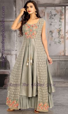 GOWN ONLINE USA Silk brocade top with golden embroidery with matching bottom and dupatta Indian Gowns Dresses, Indian Outfits, Kurta Designs, Blouse Designs, Choli Designs, Stylish Dresses, Women's Fashion Dresses, Fashion Hats, Fashion Watches