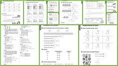 Fichas de matemáticas para 2do grado. Fichas de refuerzo y ampliación para trabajar en el área de matemáticas con niños de segundo grado de educación primaria