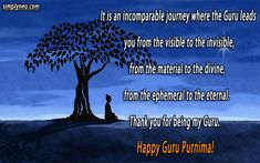 Guru Purnima-Teachers Day - SimplyNeo Quotes Happy Guru Purnima, Happy Ganesh Chaturthi, Sharing Quotes, Teachers' Day, Journey, The Journey