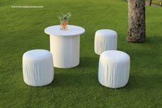 White Maui wedding lounge furniture by Hawaiian Rents / www.hawaiianrents.com