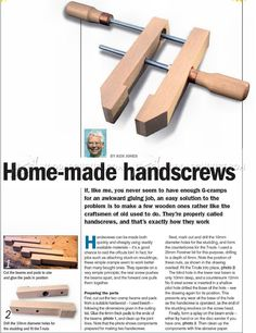 Homemade Hand Screw Clamps - Clamp and Clamping