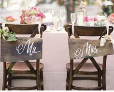 Bride n Groom Wedding Chairs | Click Pic for 25 DIY Wedding Decorations on a Budget | DIY Rustic Wedding Decor Ideas on a Budget