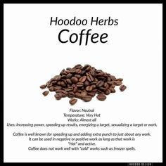 Hoodoo Coffee - Pinned by The Mystic's Emporium on Etsy