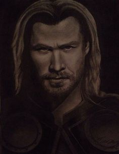Thor from the avengers - art by Hall