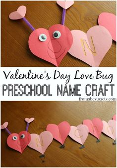 Adorable and educational, what could be better than that?! Practice the letters of your child's name while making a super cute little Valentine's Day love bug!