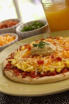 Build your own breakfast pizza - great idea for when you have a house full of guests