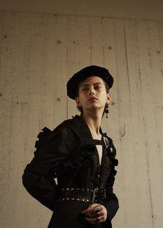 Brooch by jennie sharman-cox. Italian Vogue, Photographer –Rhys Thorpe