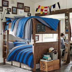 Guys Dorm Idea Wood And Blue Dorms Collegedorms More