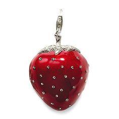 Strawberry Locket pendant/charm from Thomas Sabo Bijoux Thomas Sabo, Schmuck Design, Silver Charms, Pandora Charms, Jewelry Collection, Jewelry Design, Sterling Silver, Strawberry Delight, Strawberry Fields