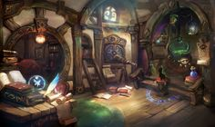 * wizard house, greeimm Bae on ArtStation at https://www.artstation.com/artwork/wizard-house-72d464f8-95e2-4cf4-909f-d65da1dae29e