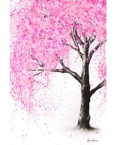 Drawing With Charcoal A cherry blossom inspired artwork I created with charcoal and acrylics on canvas. This painting is ready to hang and shipped express for free worldwide. Abstract Canvas Art, Canvas Art Prints, Canvas Wall Art, Landscape Artwork, Realism Art, Australian Artists, Christmas Art, Fine Art Paper, Online Art