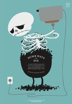Dumb Ways to Die - Toaster print ad