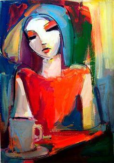 by Jean Guiney Jgityan Artist Painting, Figure Painting, Painting & Drawing, Figure Drawing, Abstract Portrait, Portrait Art, Arte Pop, Pastel Art, Fine Art