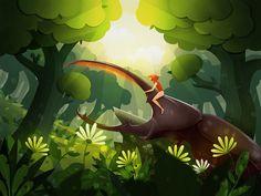 A little girl's wonderful adventure series