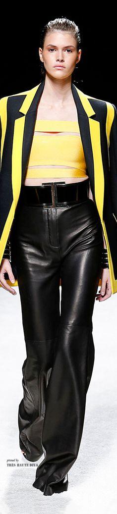 0a93ce68d343  Paris FW Balmain Yellow Fashion