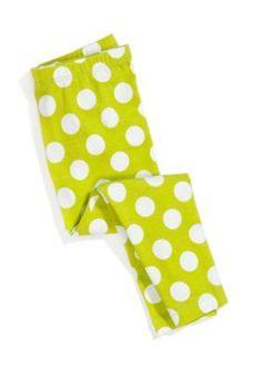 J Khaki   Dot Knit Leggings Girls 4-6x