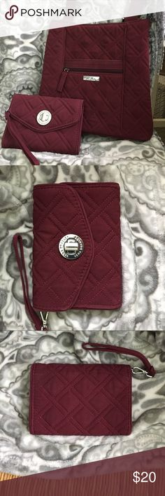 Vera Bradley Wallet Good condition maroon Vera Bradley wallet. Can be bundled with matching crossbody! Vera Bradley Bags Wallets