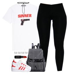 """""""Sinner."""" by cheerstostyle ❤ liked on Polyvore featuring Hyein Seo, adidas Originals, Maison Margiela, NYX and Aamaya by Priyanka"""