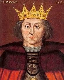 Stephen de Blois, King of England (b. circa 1096, d. 25 October 1154).  Usurped the throne from the first queen regnant of England, Matilda.  It is said that he was so lenient with the barons that the barons ran amok and terrorized the peasants.
