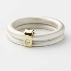 Silver and diamond ring | Contemporary Rings by contemporary jewellery designer Sue Lane