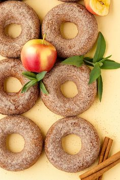 The Best Baked Apple Cider Donuts! Yummy apple cider donut recipe for fall or any time! Baked apple donuts with cinnamon sugar topping.