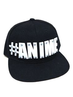 ANIME  Black Classic Adjustable Snapback Hat by ARSENICxCYANIDE