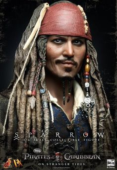 "Freeshipment Hot Toys DX06 Jack Sparrow Johnny Depp 12"" Figure Hottoys 