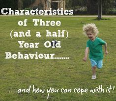 Characteristics of 3.5 year old behaviour - if you have a challenging 3.5 year old, this post will let you know that most of what is happening is completely normal and offer strategies to cope with it.