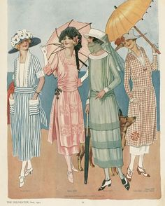 Day dresses of 1921 - The Delineator (Butterick magazine). I'll take all of these, if you don't mind, and all their shoes too, please.