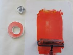 Sweet diy tea towel stamping tutorial from Amy Rowan via Larks and Japes
