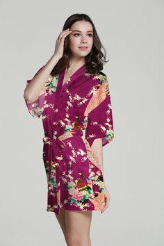 915bd55d225 Women Sleepwear Silk Pajamas For Women Girl Sleepwear Baby Shower Robe  Ladies Bathrobes Wedding Party Gifts Robe Set Satin Kimono Robes There were  12