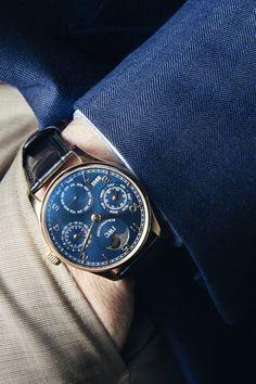 Blue  Gold IWC Portuguese Perpetual.