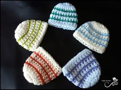 Micro Preemie Hats (18-20 weeks gestational) so cute, they would be good to make and donate to hospitals.