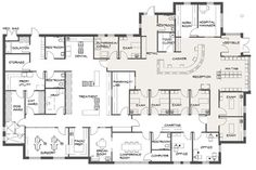 Avoid floor plan follies in your veterinary practice - Hospital Design - (Vet Tech Articles) Hospital Floor Plan, Hospital Plans, Veterinarian Career, Hospital Architecture, Architecture Plan, Hotel Floor Plan, Pet Hotel, Model House Plan, Pet Clinic