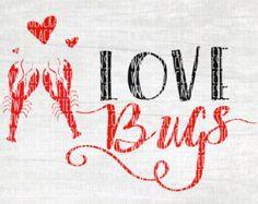 Crawfish Svg Cut File - Crawfish Boil Svg Cut File - Crawfish Valentines Svg Cut File - Valentines d Crawfish Season, Crawfish Party, Cajun Crawfish, Monogram Fonts, Love Bugs, Svg Cuts, Design Crafts, Small Gifts, Mardi Gras