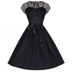 093865262cb6  Tina  Captivating Fifties Occasion Dress with Illusion Neckline