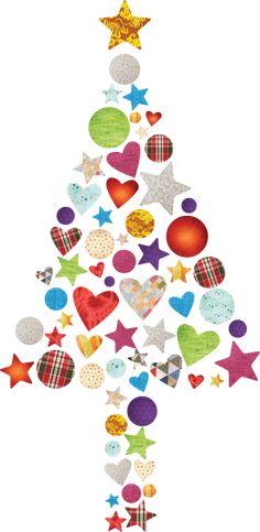 Vinilo decorativo árbol navidad patchwork