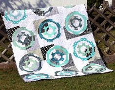 'Gearing up' dresden quilt (1) by ShapeMoth, via Flickr