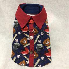 Baseball Dog Shirt by LittlePawsBoutique on Etsy Boy Dog Clothes, Dog Clothing, Dog Clothes Patterns, Coat Patterns, Yorkie Dogs, Yorkies, Dog Vest, Dog Shirt, Dog Coat Pattern