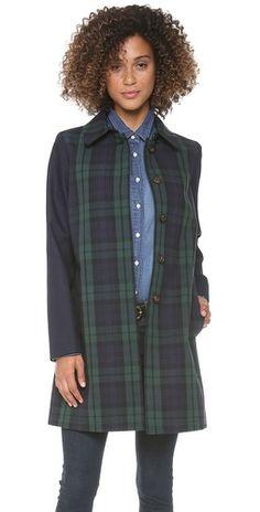 Madewell Clean Plaid Mac Coat | SHOPBOP