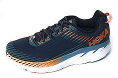 HOKA ONE ONE Men s Clifton 5 Running Shoe Black Iris Storm Blue 10.5 -  RUNNINGTIPS 399f558465