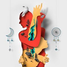 New Editorial Illustrations Incorporating Cut Paper Textures and Shadows by Eiko Ojala (Colossal) Art And Illustration, Art Illustrations, Paper Wall Art, Paper Artwork, Paper Cutting, Papercut Art, Eiko Ojala, Saatchi Gallery, Colossal Art