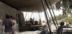 Peter Zumthor . summer restaurant . Ufnau (5) Peter Zumthor, Garden Pavillion, Architecture Drawings, Architecture Models, Restaurant, Architectural Elements, Boat, Summer, Hana
