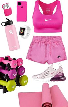 Discover outfit ideas for Home Workout made with the shoplook outfit maker. How to wear ideas for Apple Watch Series 3 and pink hydro flask Cute Sporty Outfits, Stylish Winter Outfits, Sport Outfits, Gym Outfits, Trendy Outfits, Summer Workout Outfits, Summer Outfits For Teens, Womens Workout Outfits, Athletic Outfits